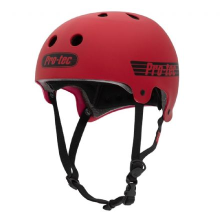 Pro-Tec Old School Certified Matte Red Small